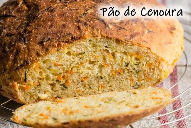 Receita de pão de cenoura
