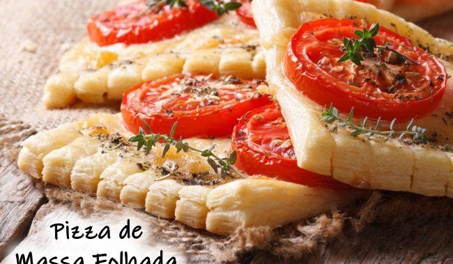 Pizza de Massa Folhada: consistência leve e crocante
