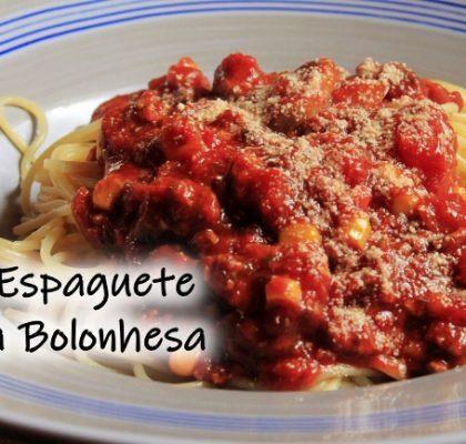 Receita de Espaguete à bolonhesa