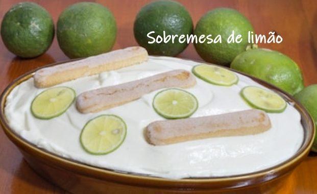 Sobremesa de limão com bolacha Maria: simples e fácil