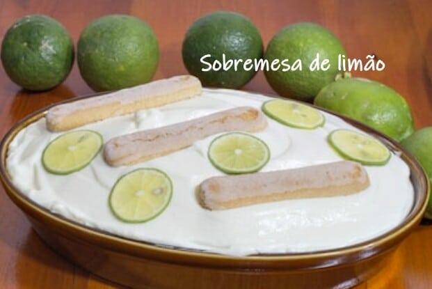 Sobremesa de limão com bolacha Maria