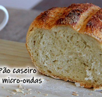 Pão caseiro de micro-ondas