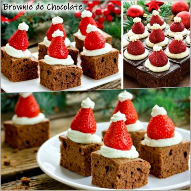 Receita de Brownie de Natal
