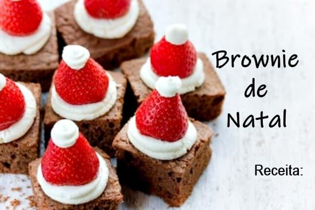 Brownie de Natal: simples e gostoso