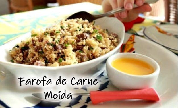 Farofa de Carne Moída: bem gostosa e fácil de fazer
