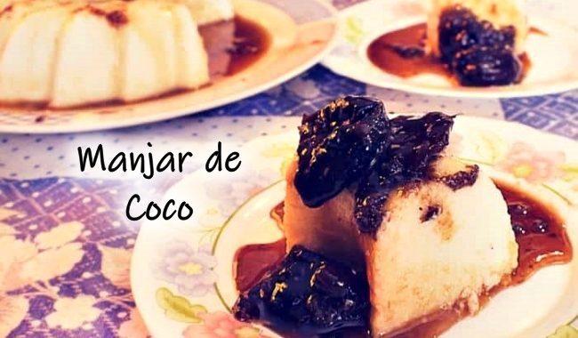 Manjar de Coco simples com leite condensado