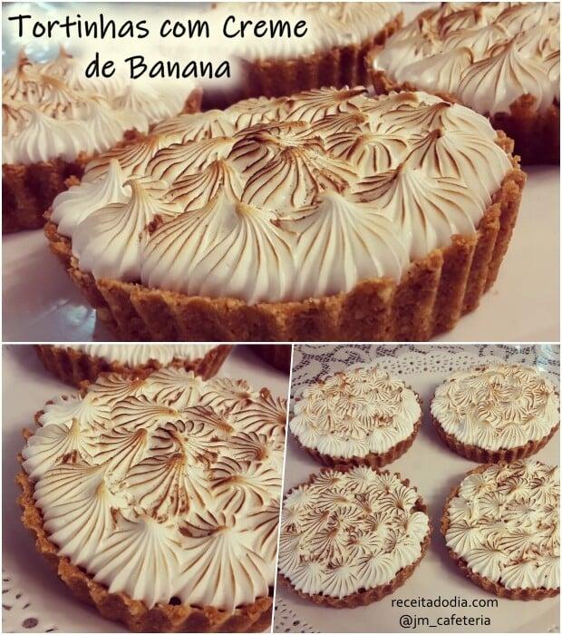 Tortinhas com creme de banana