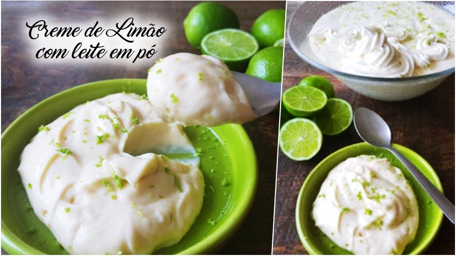 Creme de limão com leite em pó