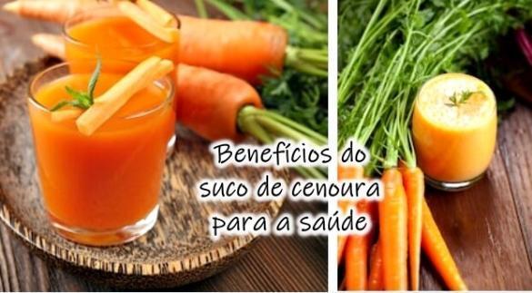 Benefícios do suco de cenoura para a saúde