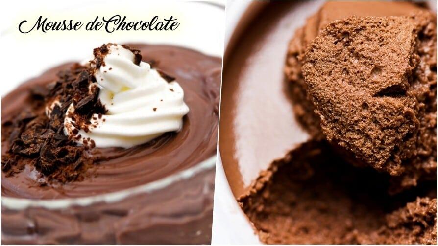 Mousse de chocolate fácil de fazer