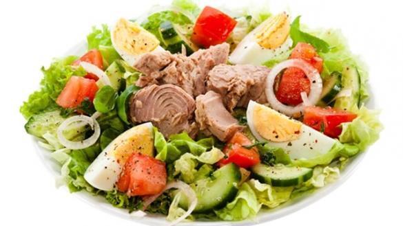 Receita de atum com salada