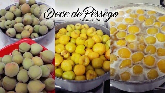 doce de Pêssego em calda