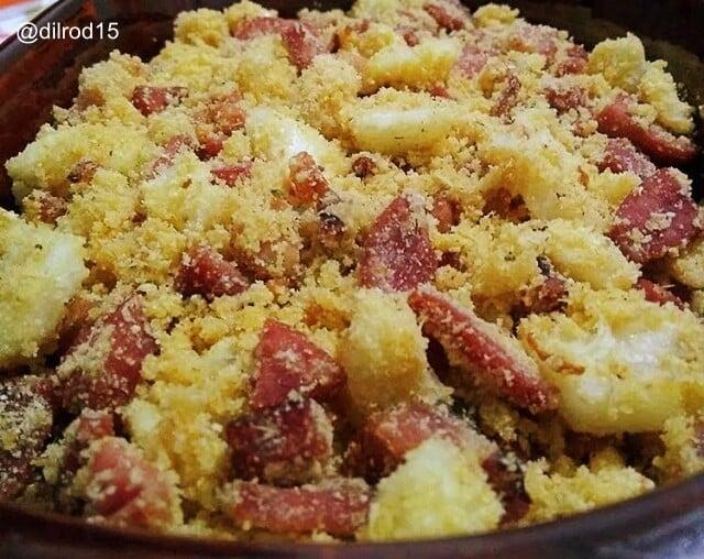 Receita de farofa natalina com abacaxi