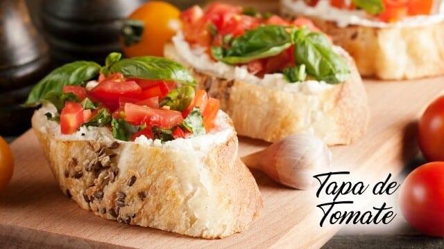 Receita de tapa de tomate