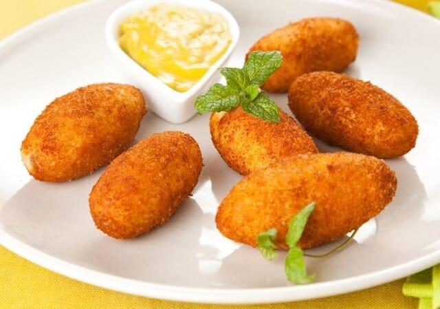 Receita de croquete de presunto e queijo