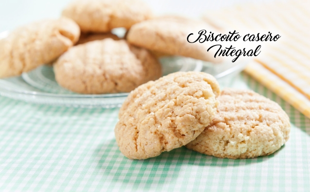 Receita de biscoito caseiro integral