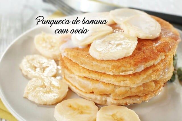 Receita de panqueca de banana com aveia