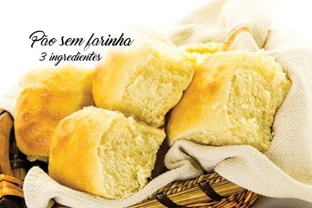 Receita de Pão sem Farinha com apenas 3 ingredientes