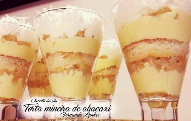 Torta Mineira de Abacaxi