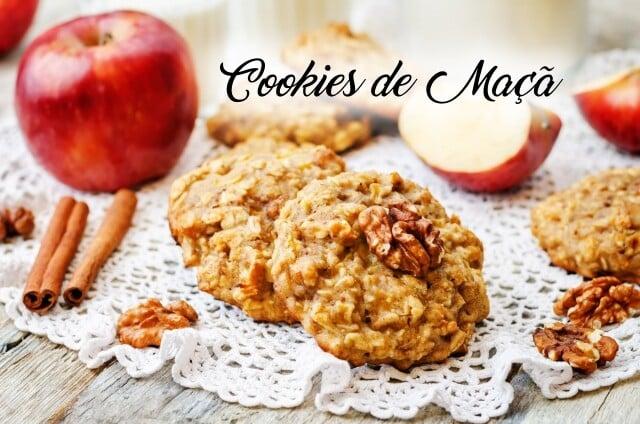 Cookies de Maçã: perfeita combinação de maçã, passas e aveia